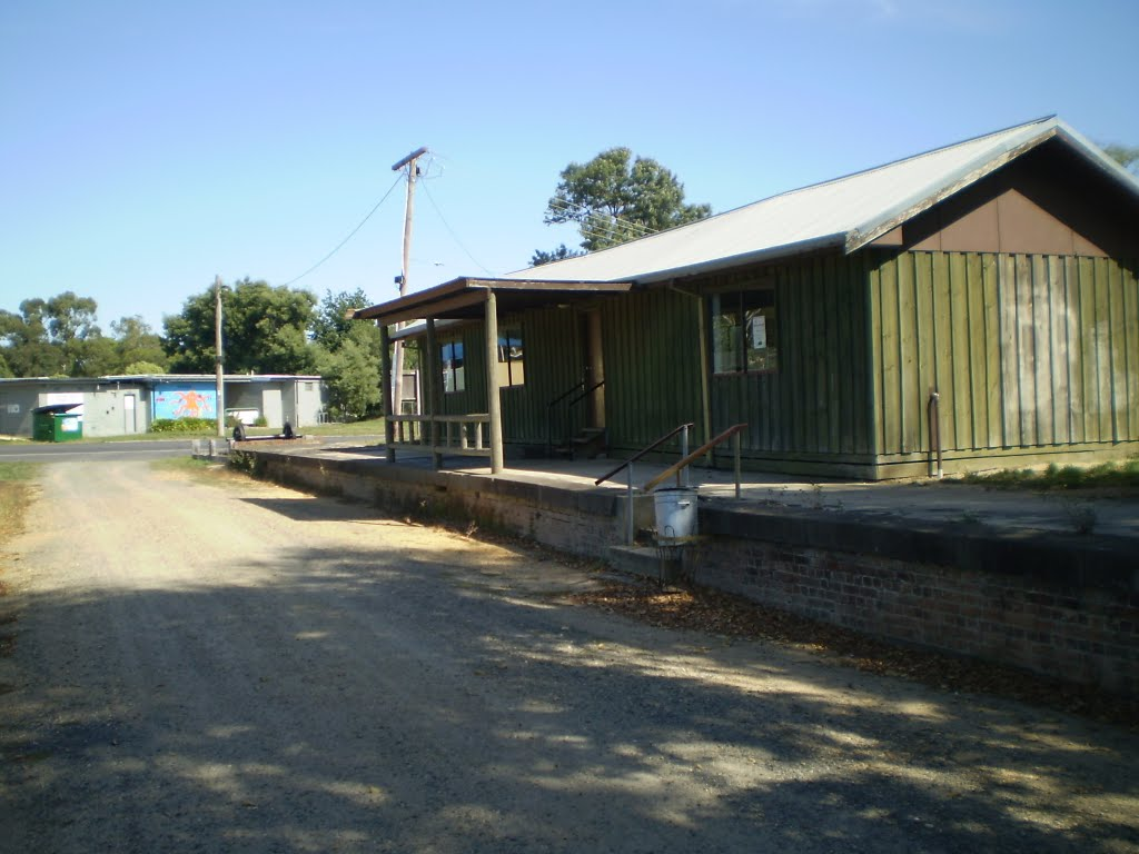 Buninyong  Railway  Station   closed  in  1947