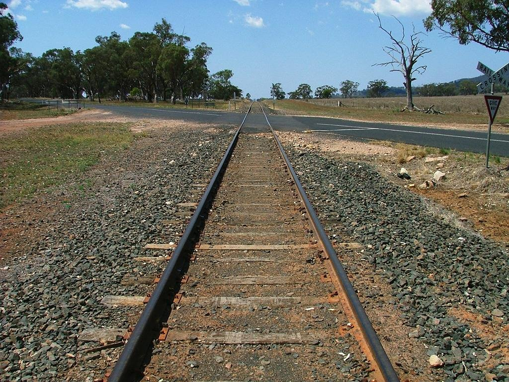Binnaway to Werris Creek, looking east near the Black Stump Way crossing