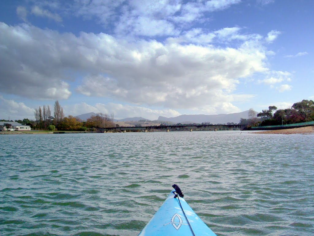 Leven River, Ulverstone with Dial Range in background......222