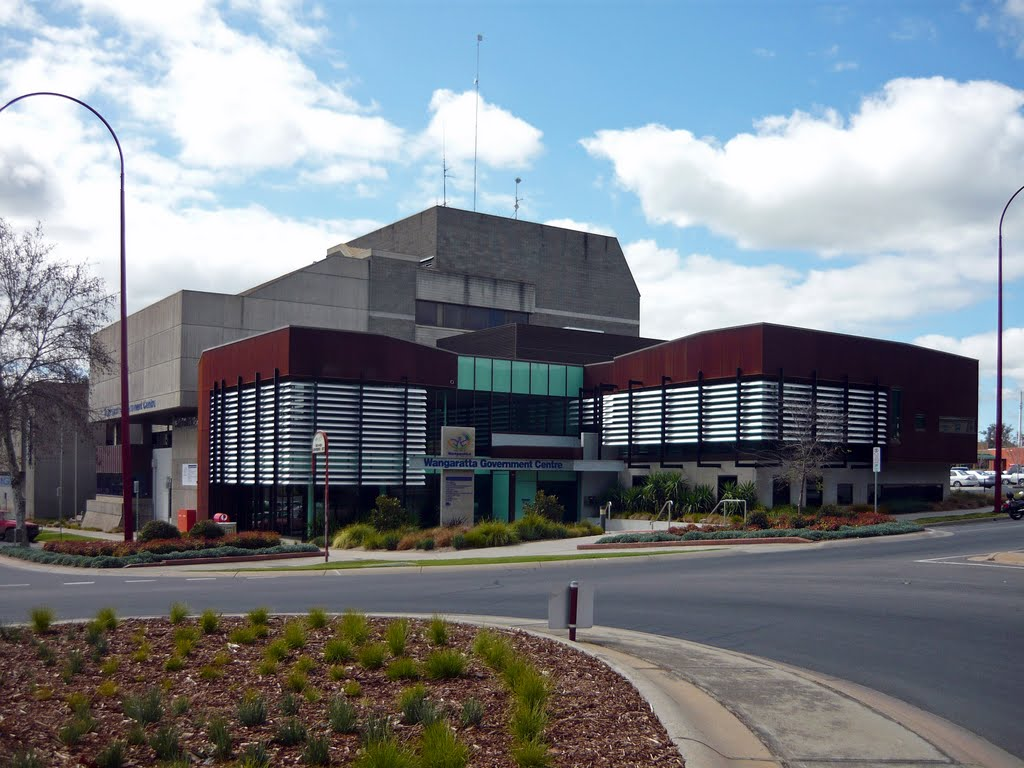 Wangaratta Government Centre (2010). Home to the local Council Offices and several Victorian Government Department Regional Offices