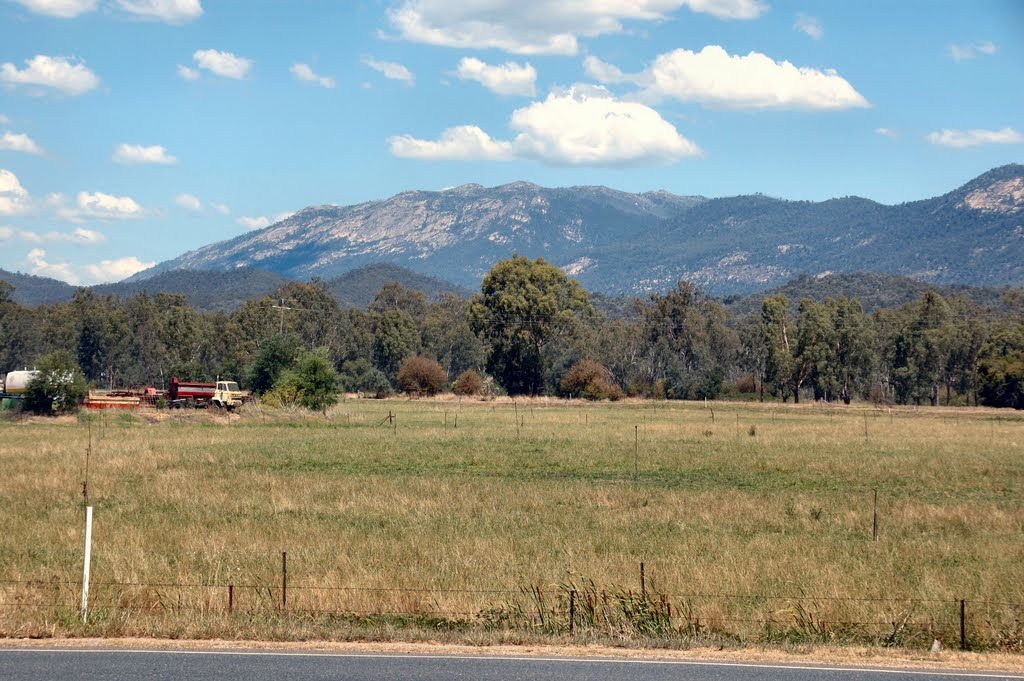 Mt Buffalo seen from Myrtleford