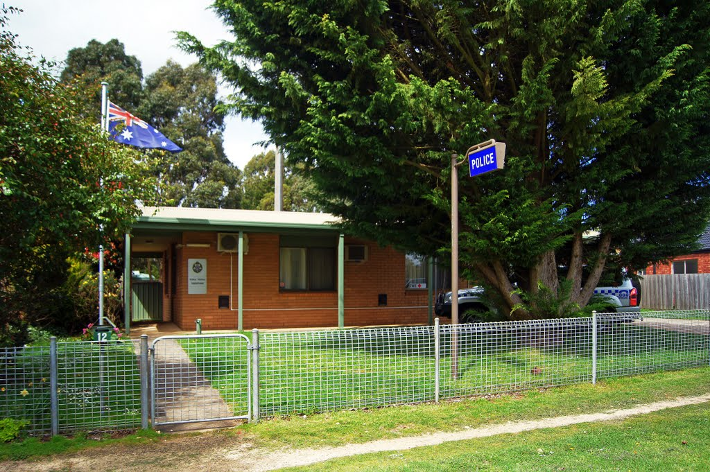 Trentham Police Station (2010) - where Sheriff Falkiner was in charge until Feb, 2011