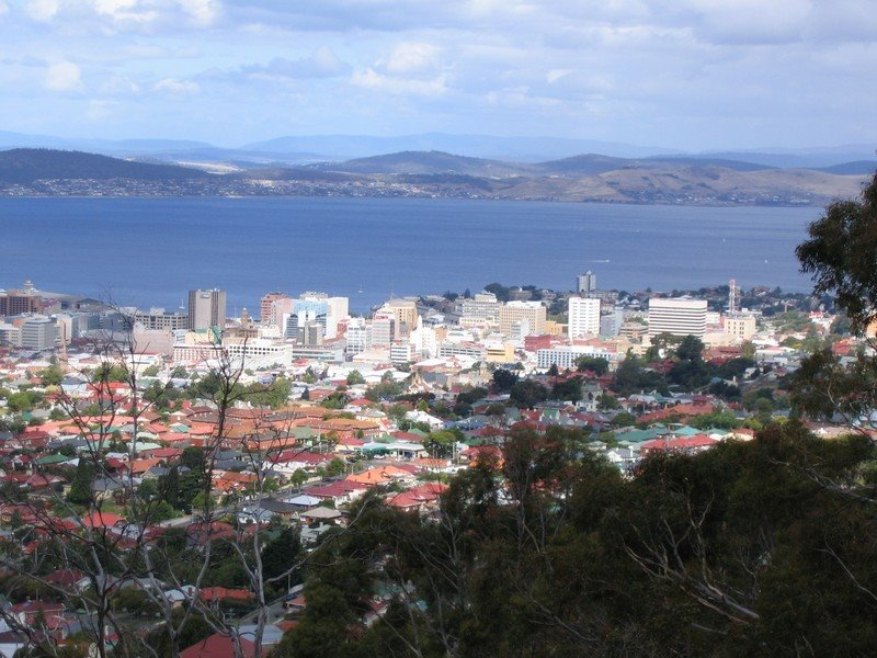 Hobart from Mount Stuart