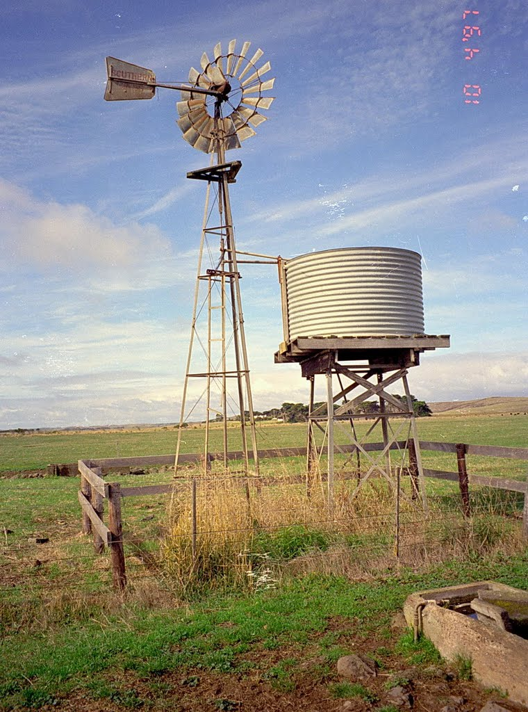 Wind powered well, South Australia 1997