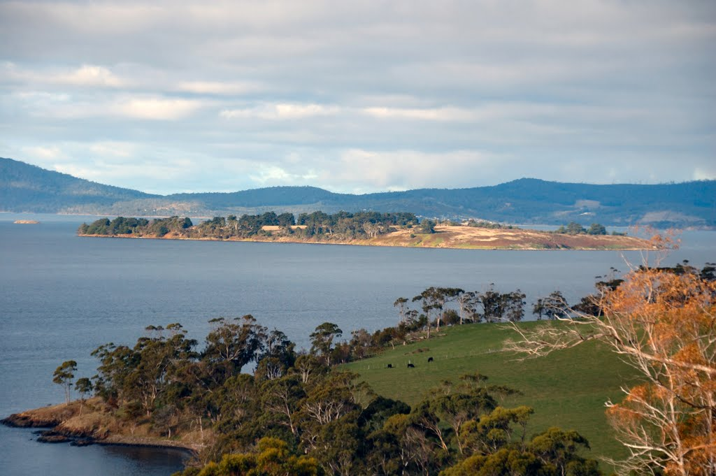 Huon Island in mouth of Huon River