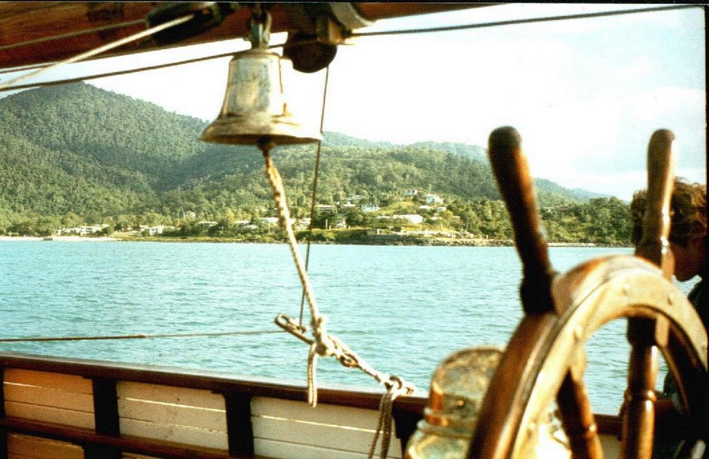 "Australia - Queensland - Whitsunday Group - Airlie Beach - view from Brigantine ""Golden Plover"" - 1980"