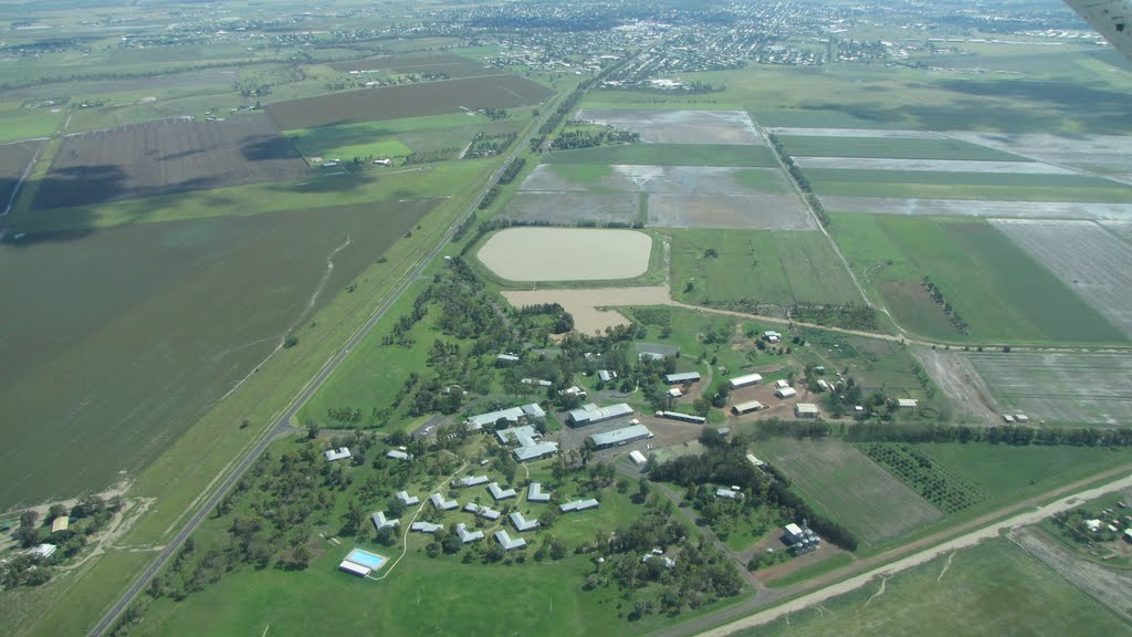 Dalby Agricultural College - Aerial View 4 Jan 2011