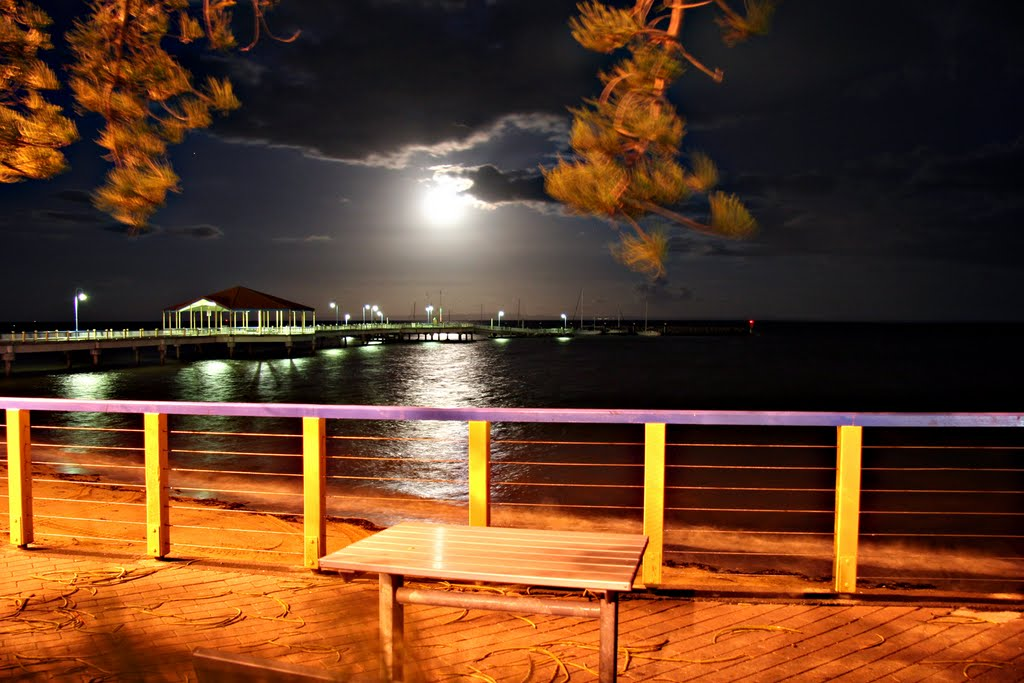 Full Moon, Balmy Sea Breeze: Redcliffe Pier