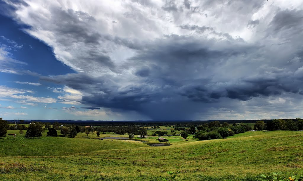 Looking South - Storm over Mittagong (High Contrast)