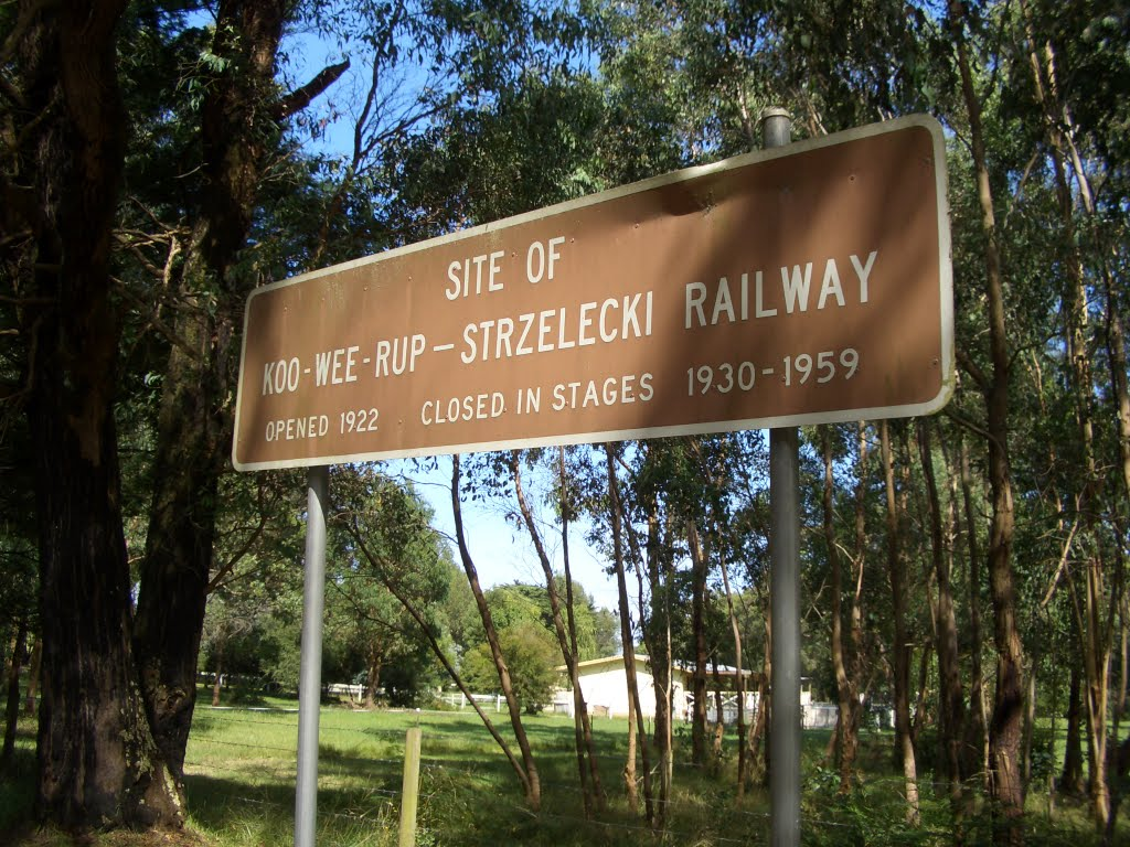 Site of the Koo Wee Rup - Strzelecki Railway, Athlone, Victoria