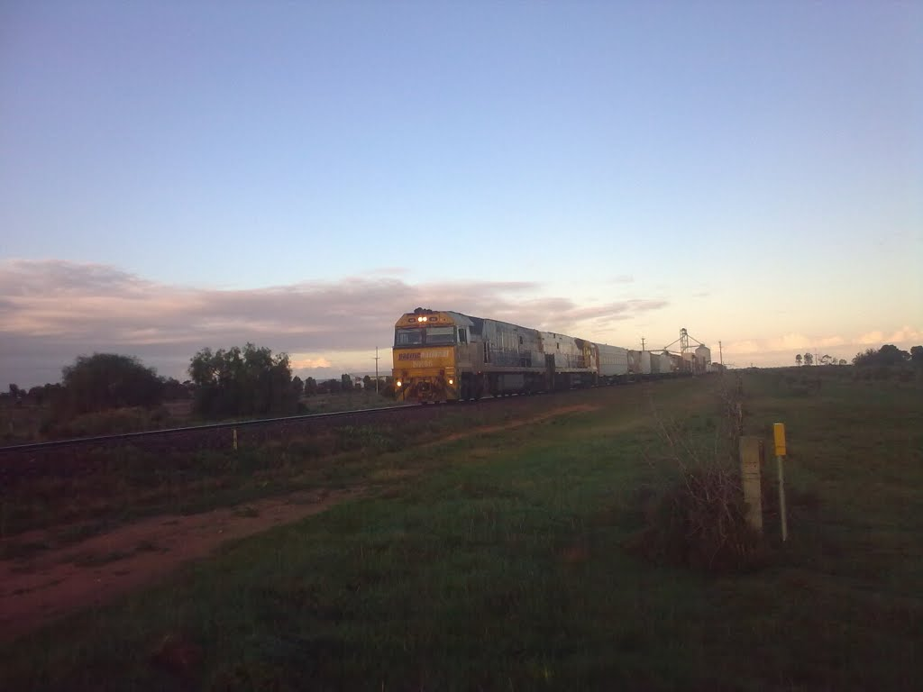 Freight Train Rolls Through Bowmans bound for Perth