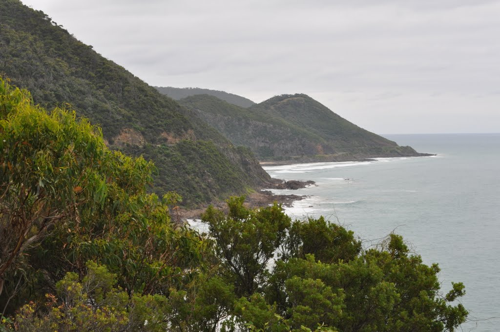 "Great Ocean Road - between Lorne and Apollo Bay- ""THE LONG AND WINDING ROAD"""
