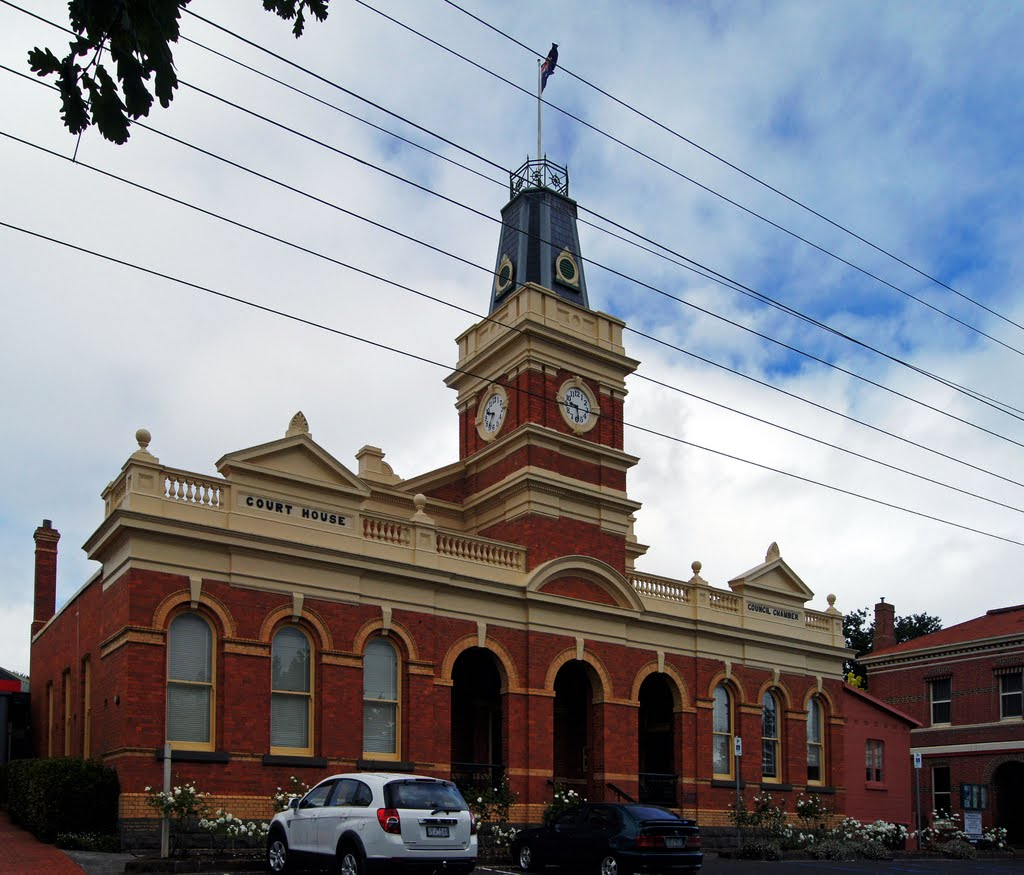 Buninyong Town Hall (2011). Built in 1886, this was designed to fill the dual role of town hall and courthouse