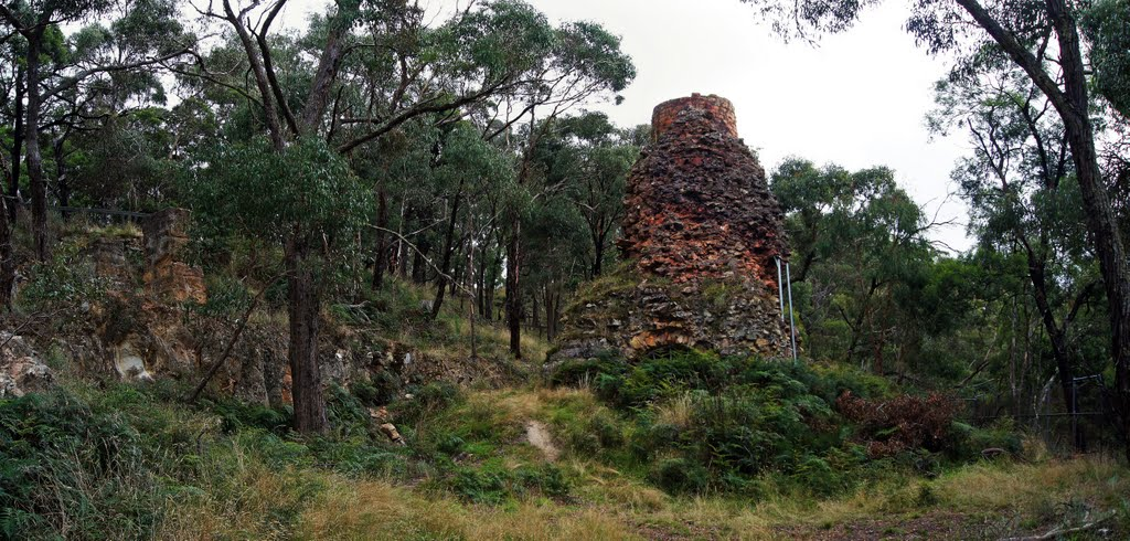 Blast Furnace (2011). The 17-metre high furnace is a monument to the days, in the 1870-80s, when the Lal Lal Iron Mining Co produced pig iron