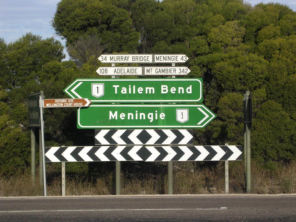 Crossing by Wellington to Meningie, SA, Australia