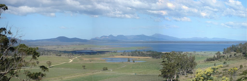 Freycinet National Park from north of Cranbrook