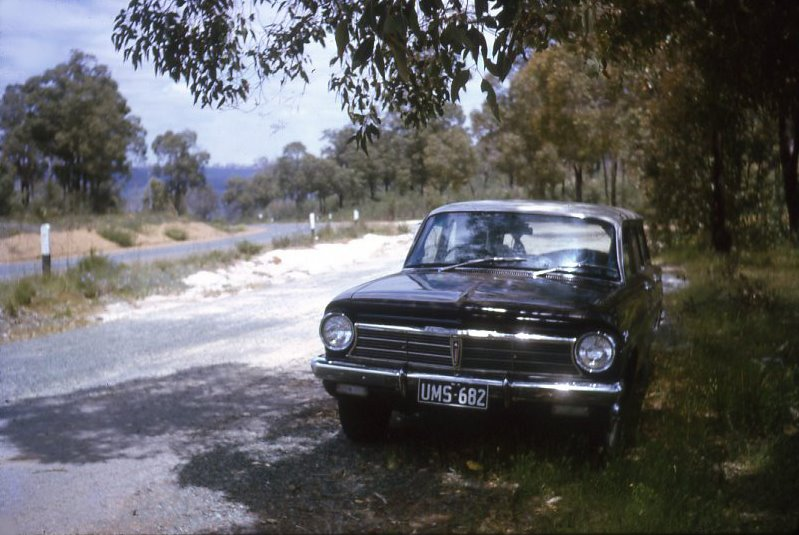 AI04-Reg No. UMS 682. Holden Car. old coast road to Geraldton. Western Australia (circa 1974)