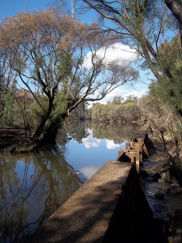 Small weir in the Collie River...