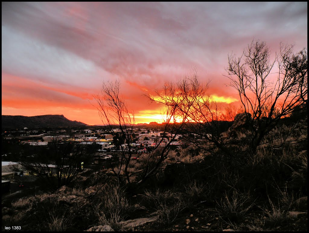 Sunset explosives in Alice Springs..© by leo1383