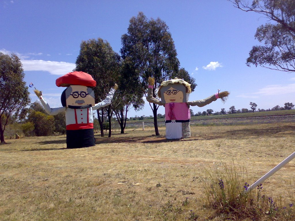 Tootool NSW - Hay bale people