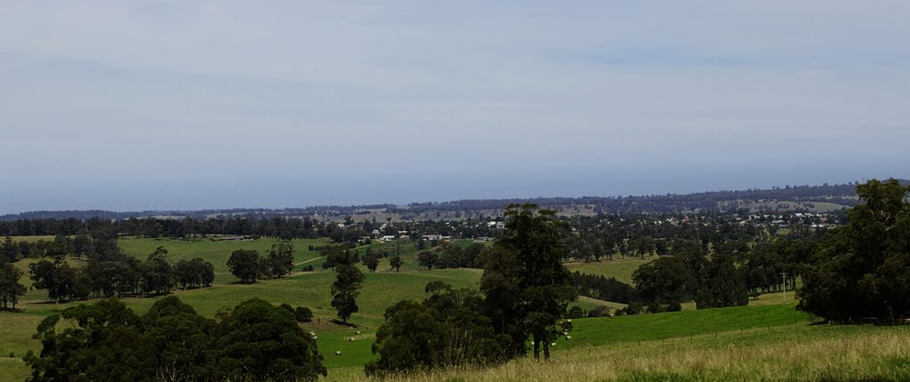 View over Orbost from Knob Track