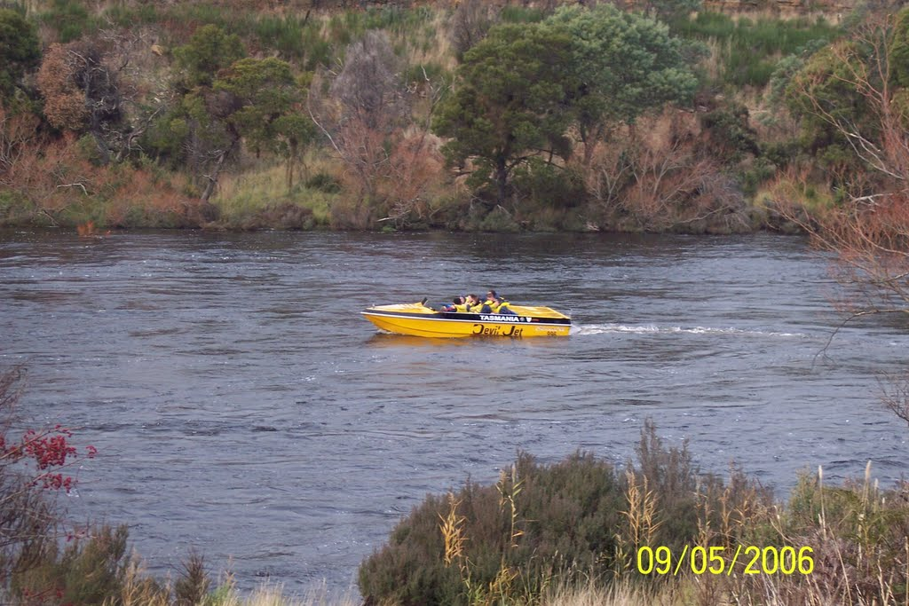 Speed Boat in Derwent River