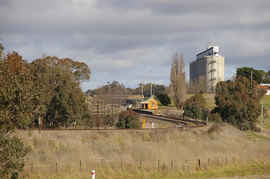 Wallendbeen Railway Station with Silos