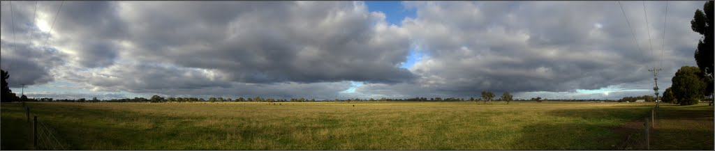Panorama of fields just past Edenhope.