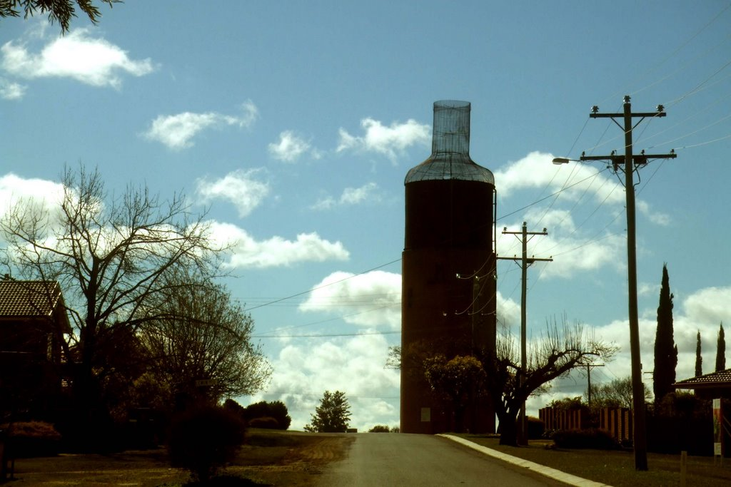 Wine Bottle Tower - Rutherglen, Victoria