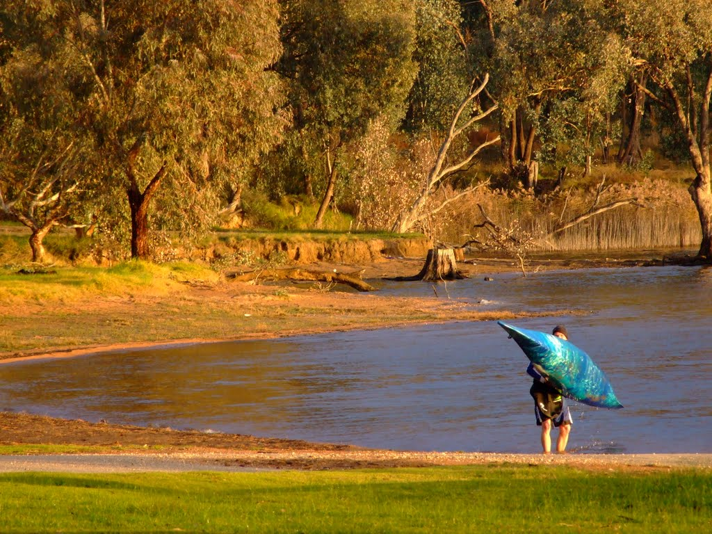 'Time for a paddle' early morning 'Hume Dam Ebden'