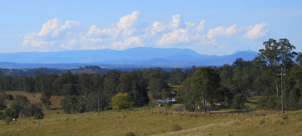 Kyogle district and Bar Mountain from Hogarth Range