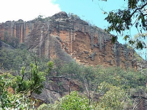 clifffs above Newnes