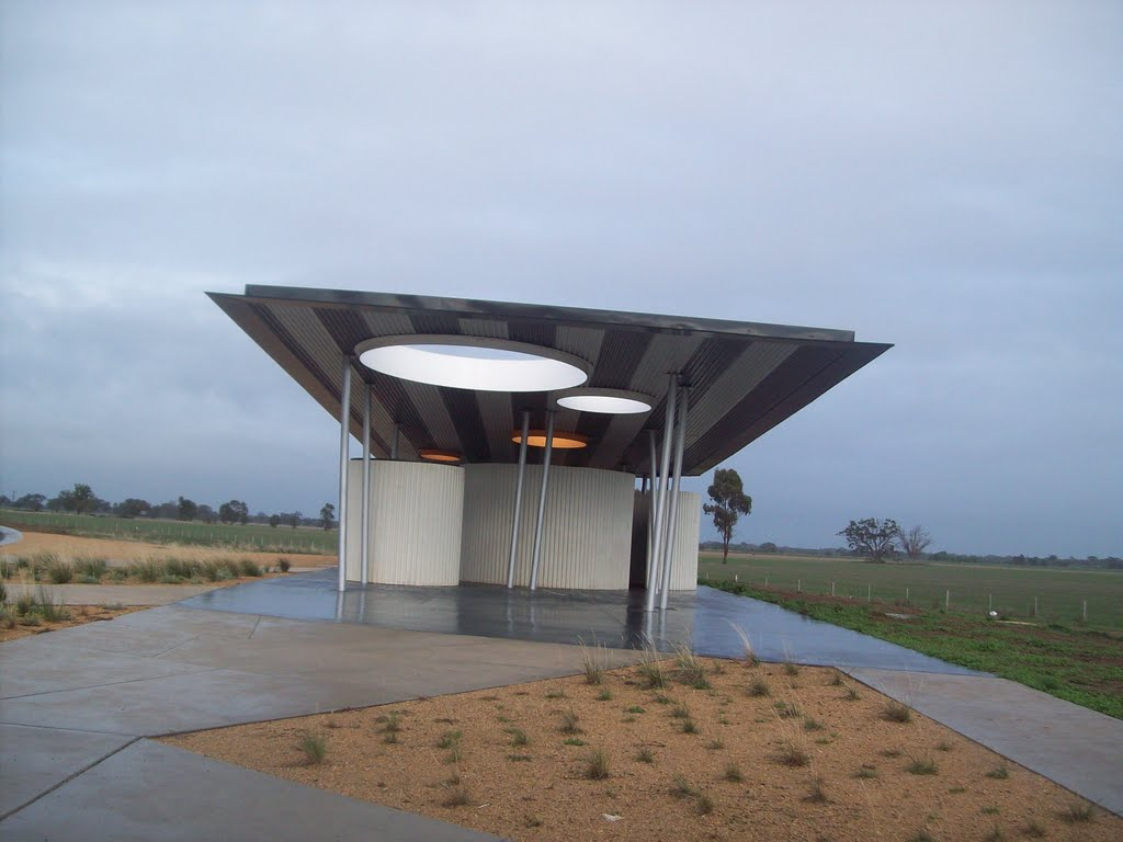 Toilet block Goulburn Valley Highway near Arcadia, Vic.