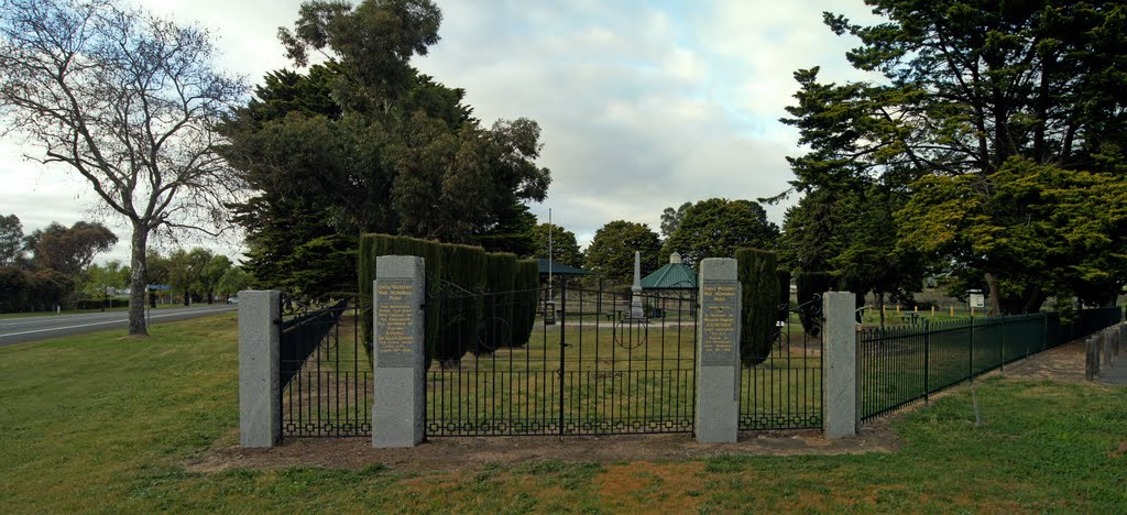 Great Western War Memorial Park (2011). The memorials in the park were unveiled in 1956, by Sir Dallas Brooks, Governor of Victoria