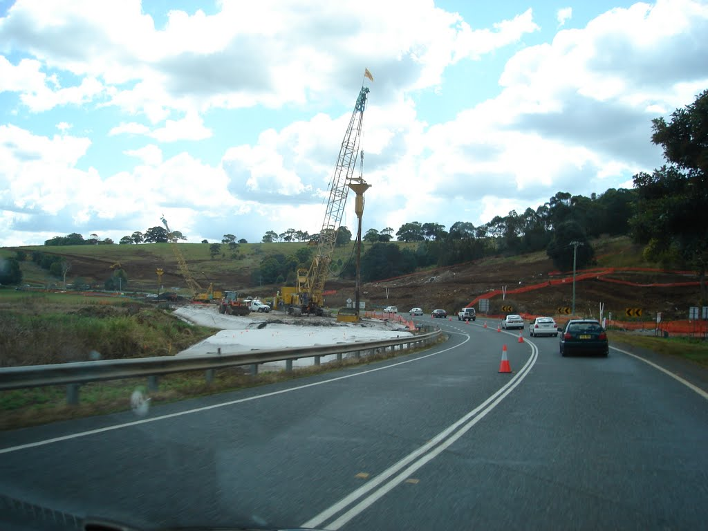 Road Works north of Ballina