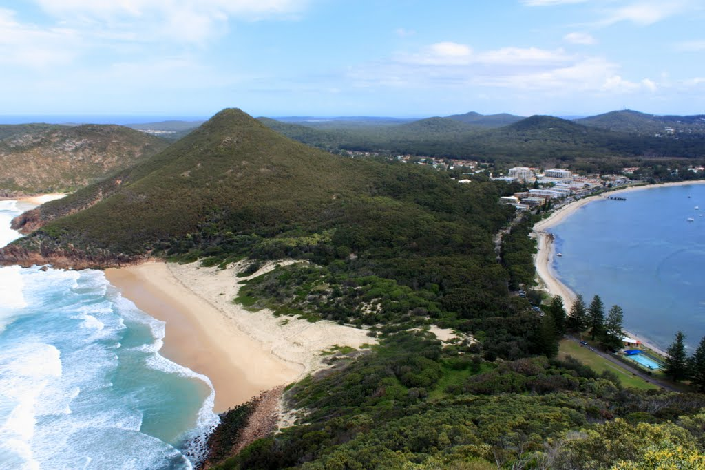 Shoal bay + Zenith Beach from Tomaree