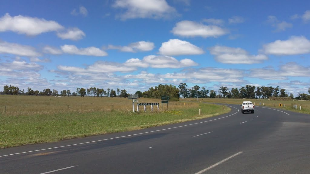 The junction of Wimmera Highway and Kaniva-Edenhope Road