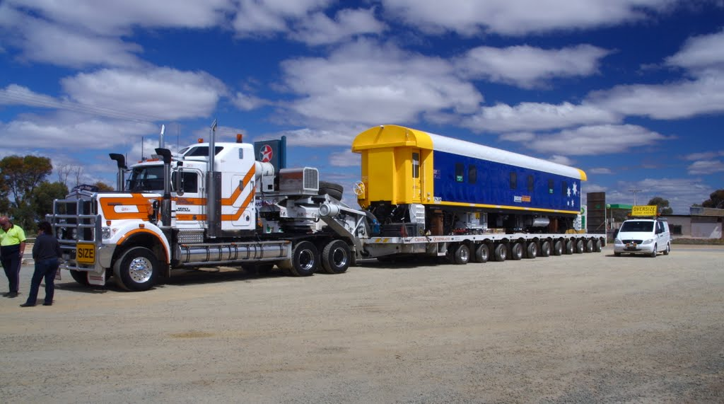 Moving a Railway Carriage to QLD on the back of a truck