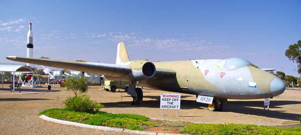 A bombing Canberra Bomber: Woomera
