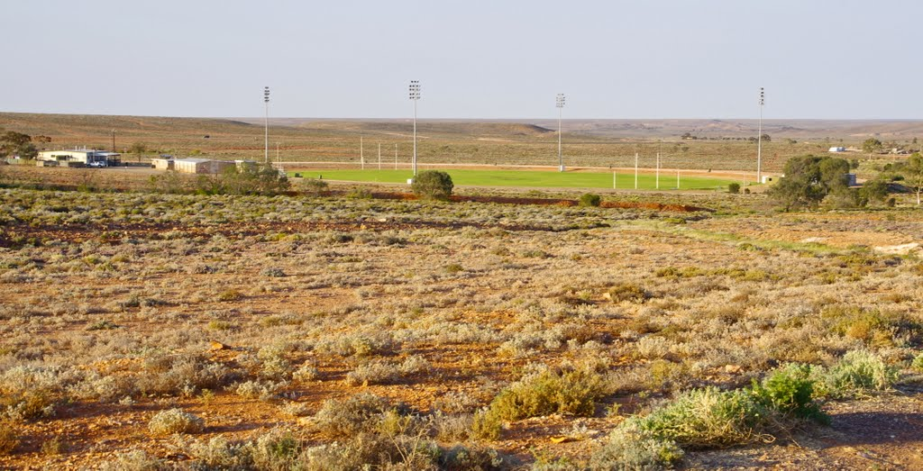 Woomera Sports Ground with green grass!