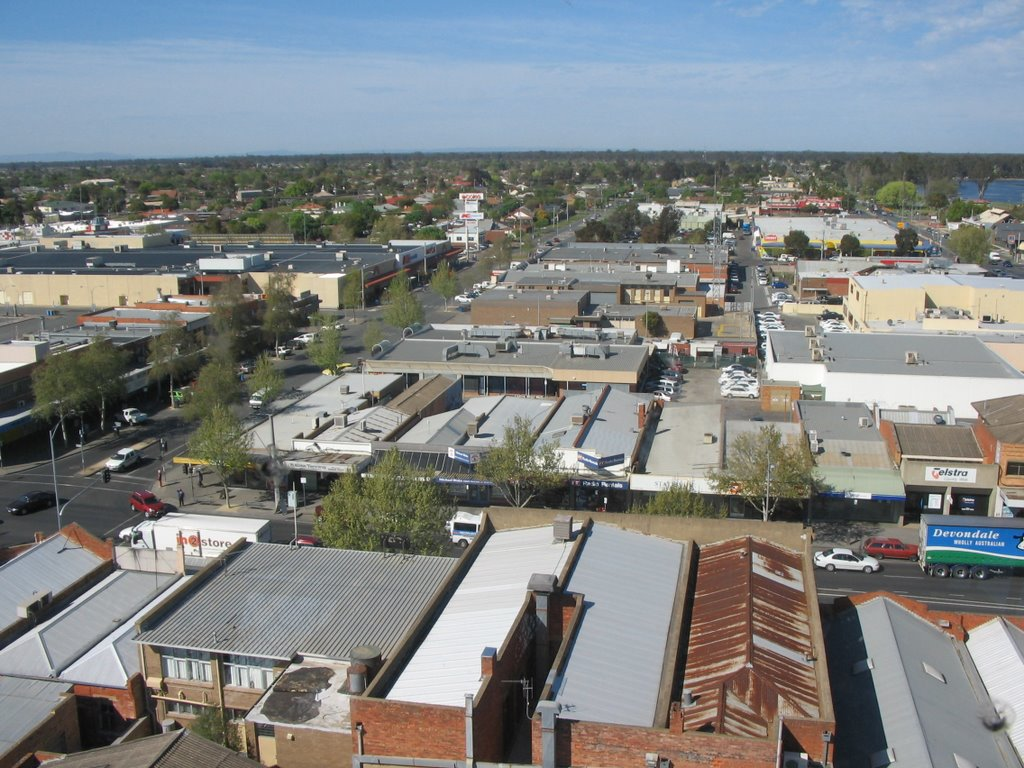 shepparton from the tower