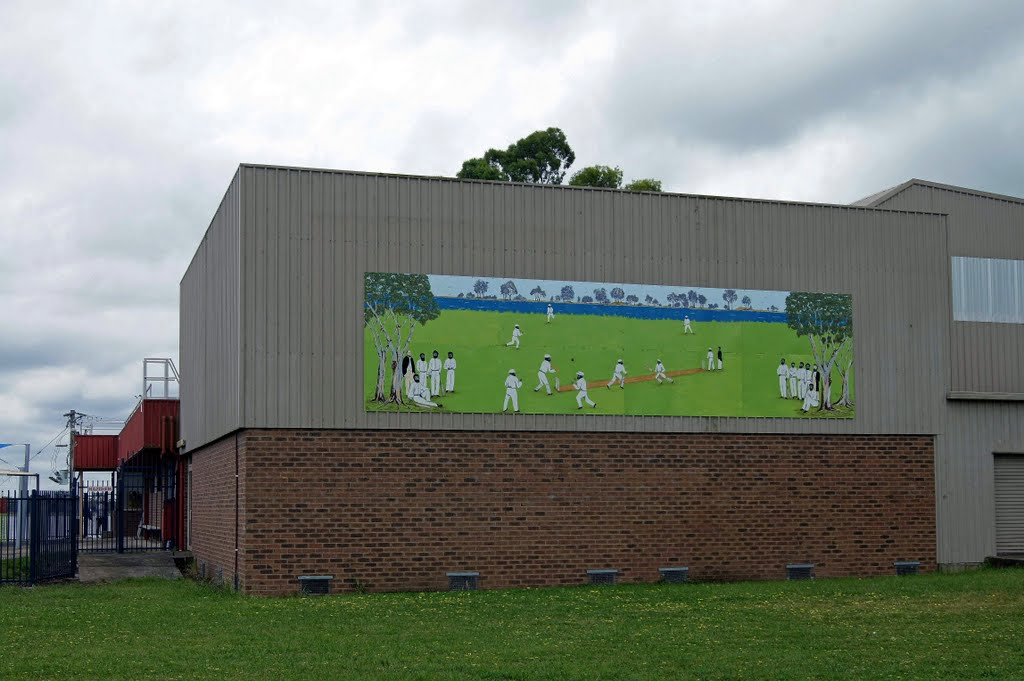 Aboriginal Cricket Team Mural (2011). This honours the Aboriginal Cricket Team who practised here, before they toured England in 1868