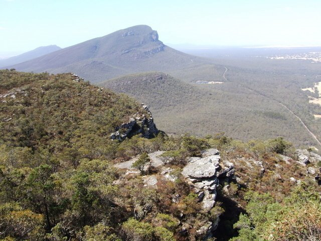 0228 Grampians Mountain, view from Mount Sturgeon towards Mount Abrupt