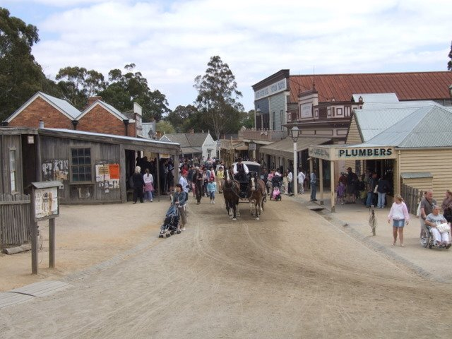 0312 Ballarat, Sovereign Hill, Main Street