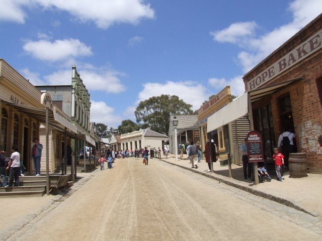 0316 Ballarat, Sovereign Hill, Main Street