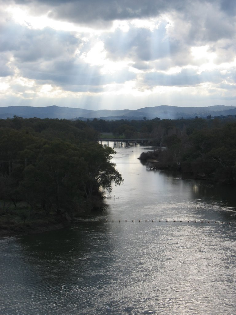 Murray River, view from dam wall