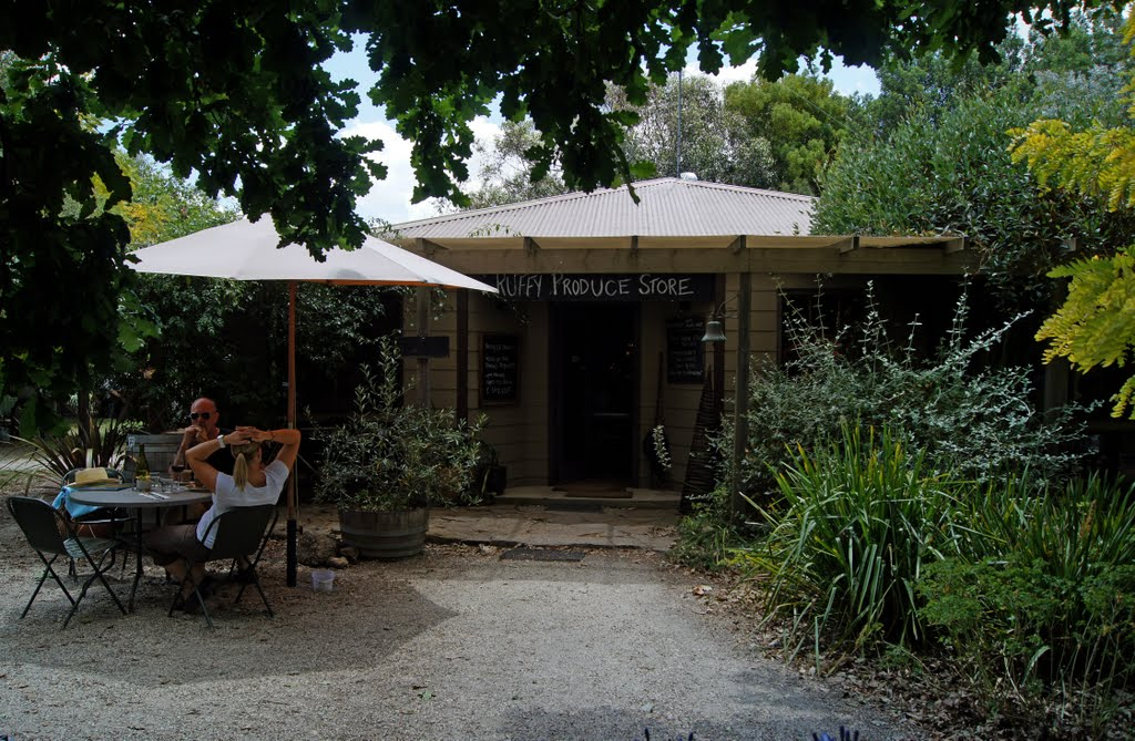 Ruffy Produce Store (2012). Since 2002, this cafe, and wine and food store has been the reason for many visitors to this quiet spot in the Strathbogie Ranges