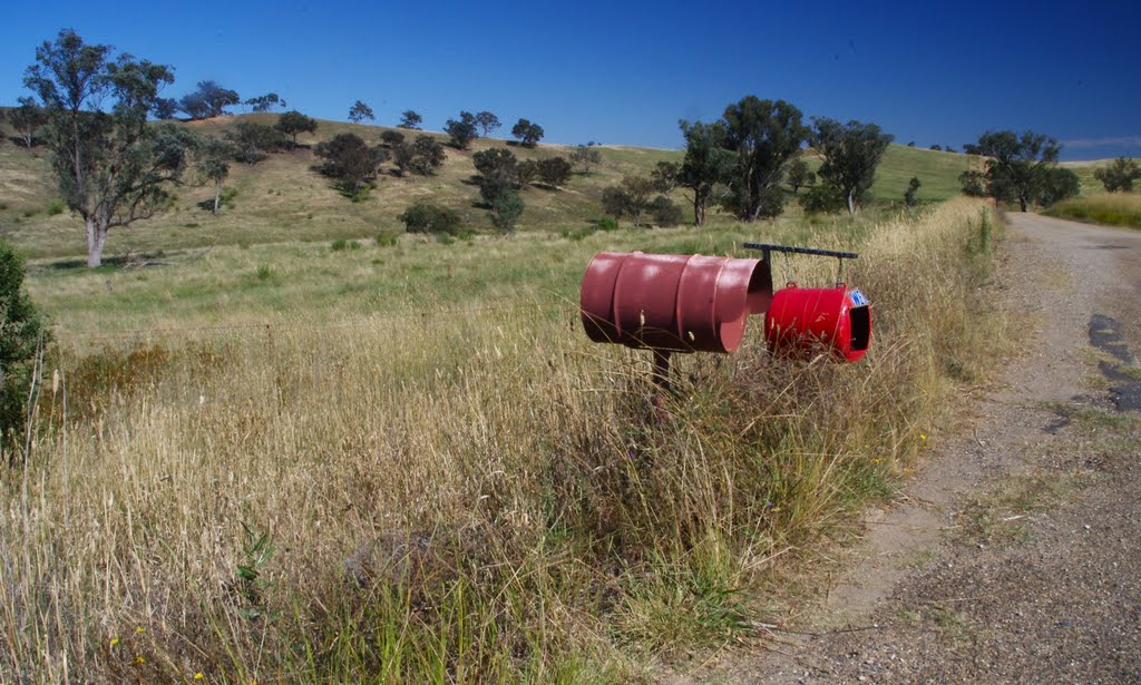 Two Red Boxes on the Hume Highway