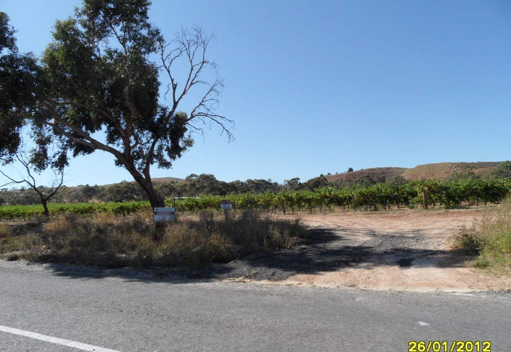 PENRICE SODA Products Quarry behind Vineyard in the Barossa Valley, along Kalimna Road, on 26-01-2012