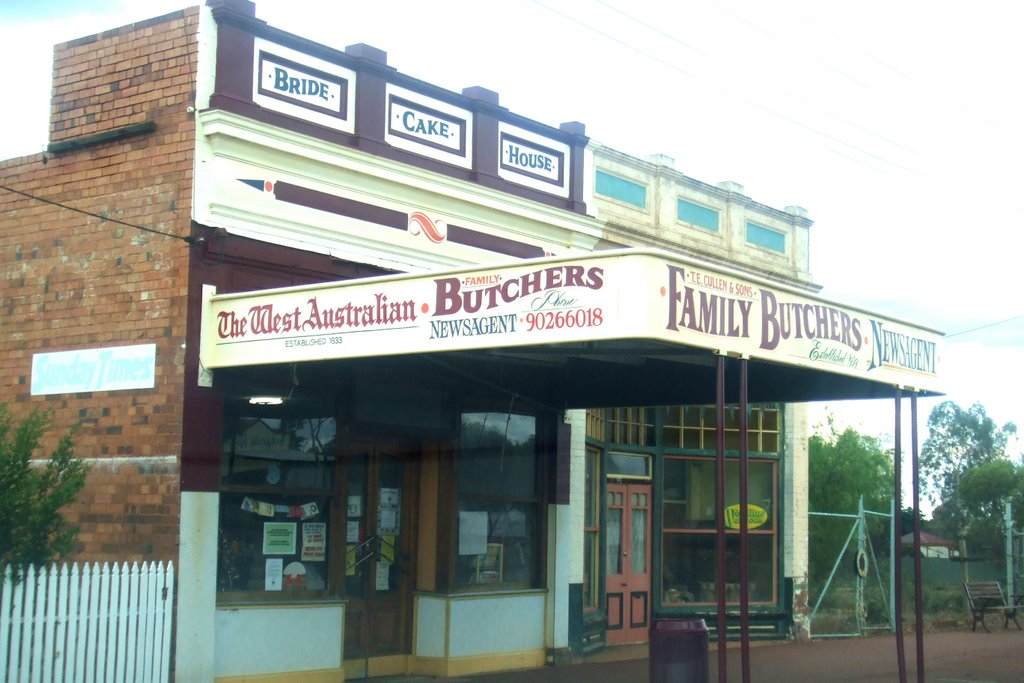 Newsagency, Cake Maker and Butcher - Coolgardie, WA